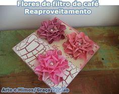 Flor de filtro de café - REAPROVEITAMENTO