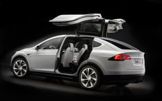 Tesla Model X falcon doors. Tesla Motors is the automotive standard other car manufacturers follow for inspiration, innovation and sustainability.