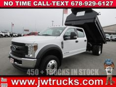 2018 Ford F-550 DUMP TRUCK - Dump Truck Exchange Ford Trucks For Sale, Getting Dumped, Front License Plate, Side Window, Fender Flares, Commercial Vehicle, Driving Test, Vehicles