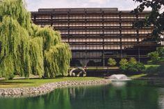 John Deere's world headquarters in Moline, IL. My father worked on the seventh floor. Designed by Eero Saarinen.
