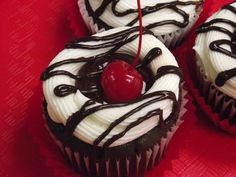 Chocolate cherry cheesecake cupcake, a lovely mouthful available at Kitchen Chemistry in Stroudsburg PA.