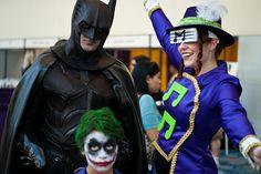 Pissed Batman looks pissed, Joker, Music Master by sdoorly, Wizard World 2011, via Flickr