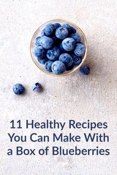 These delicious #recipes can be made with a box of #blueberries.