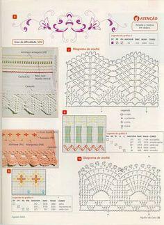 crochet - bicos - barrados - edgings - Raissa Tavares - Álbuns da web do Picasa