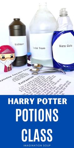 If you have a Harry Potter enthusiast in your house, you'll want to try your own Harry Potter Potions Class and Experiments, either for a birthday party or just for fun. Harry Potter Potions, Harry Potter Food, Harry Potter Outfits, Harry Potter Birthday, Science Activities For Kids, Rainy Day Activities, Science Experiments, Reading Activities, Stem Activities