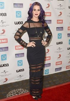 Katy Perry ditches cutesy image for gothic glam on red carpet. Thoughts?