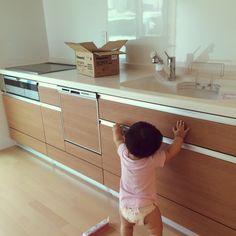 壁付けキッチン/新居引き渡し…などのインテリア実例 - 2014-09-04 05:33:34 | RoomClip(ルームクリップ)