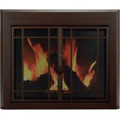 ironhaus elegant series fireplace glass door size 30 h x 47 w x