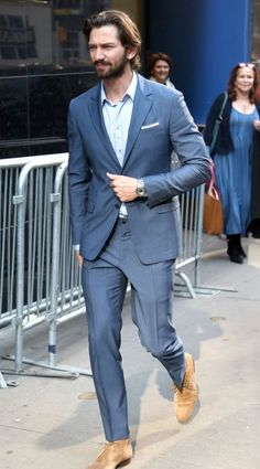 Michiel Huisman in Lucchese: Celebrities Visit 'Good Morning America' - Lucchese Bootmaker