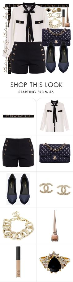 """""""She was my pearl from a box of rocks. Oh how I wish I could turn back the clocks"""" by sphereoflightmovement ❤ liked on Polyvore featuring DutchCrafters, Boutique Moschino, Chloé, Chanel, Yves Saint Laurent and Christian Louboutin"""