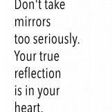 Don't take mirror.