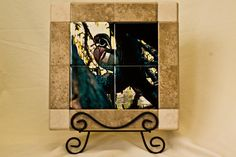 """WOOD DUCK TILE THE TILE IS 8 1/2 X 8 1/2 WITH A 2"""" BORDER $35 plus shipping"""