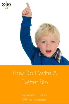 """How To Write A Twitter Bio by Katrina Collier. HR & Recruiters always ask me, """"How do I write my Twitter bio?"""" So here are some actionable tips to help you write your Twitter bio"""