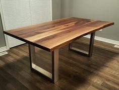Live Edge Black Walnut Kitchen Table