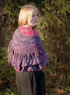 Ravelry $5.95 Mimulus Shawl pattern by Patti Waters