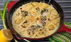 Torskfile i ugn Swedish Recipes, Fish And Seafood, I Love Food, Cheeseburger Chowder, Parmesan, Nom Nom, Recipies, Food And Drink, Soup