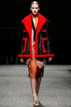 #Prada #FW2014_15 #trends #furry #red #Catwalk #MFW #Milan