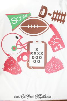 FREE Printable photo booth props for any football party.