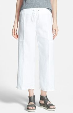 Women's Eileen Fisher Organic Linen Crop Pants