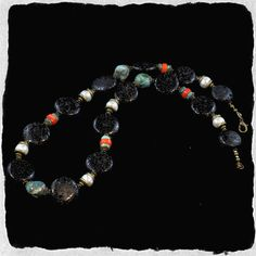 Bead Kits and Jewellery - Lava Stone Necklace With Pearls and Ocean Jasper, $230.00…