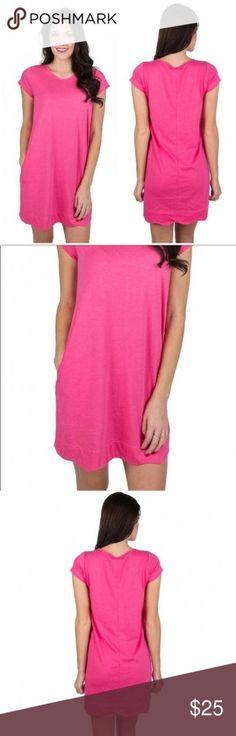 Hailey dress in raspberry Trendy Dresses, Casual Dresses, Summer Dresses, New Fashion, Boho Fashion, White Tennis Shoes, Lauren James, Boho Diy, Scalloped Hem