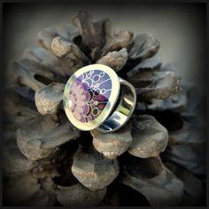 Silver cloisonne ring. www.facebook.com/ANDcli
