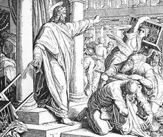 Bilder der Bibel - Jesus reinigt den Tempel -Julius Schnorr von Carolsfeld