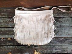 Genuine Leather Fringe Bag Boho gypsy festival by melmaxdesigns, $98.00