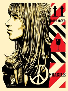 b38abd49b0b6 2017Screen print on cream Speckletone paperSigned and numbered by Shepard  FaireyEdition of 45045.7 x 61 cm