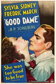 Paramount Movies, Paramount Pictures, Old Movie Posters, Film Posters, Two Movies, Classic Movies, Sylvia Sidney, Fredric March, Hooray For Hollywood