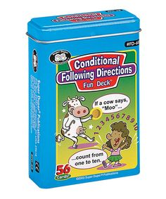 Take a look at this Conditional Following Directions Fun Deck today!