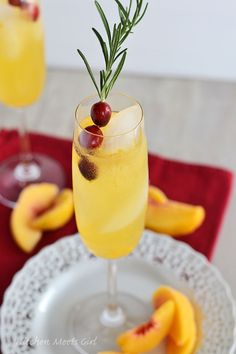 Peach Bellini Party Punch Cocktail Recipe.