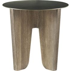 "McGuire Furniture: Barbara Barry Coyote Side Table 22""dia x 21""h"