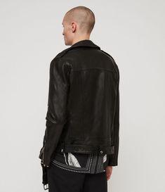 4c532e73efb0 ALLSAINTS UK  Mens Manor Leather Biker Jacket (black)