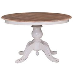 Farmhouse-60-Round-Pedestal-Dining-Table-French-Country-White-with-Driftwood-B