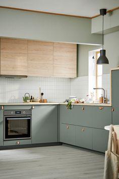 Kitchen Room Design, Kitchen Cabinet Design, Modern Kitchen Design, Home Decor Kitchen, Interior Design Kitchen, Kitchen Furniture, Home Kitchens, Ikea Interior, Modern Ikea Kitchens