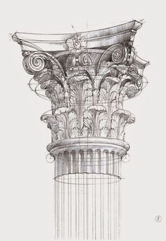 New Architecture Drawing. Newest Pics Architecture Drawing Sketches Strategies Sketchbook Architecture, Architecture Antique, Art Et Architecture, Art Sketchbook, Architecture Details, Classical Architecture, Corinthian Order, Architectural Elements, Architectural Sketches