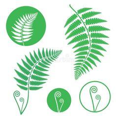 Illustration about Fern. Vector illustration (EPS Illustration of green, emblem, branch - 51107026 Vector Trees, Leaves Vector, Leaf Silhouette, Silhouette Vector, Rooster Vector, Baseball Vector, Pumpkin Vector, Hat Vector