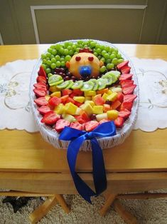 Very Best Pinterest Pins: Baby Shower Baby Fruit Tray