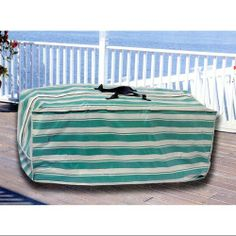 Great Durable Striped Waterproof Outdoor Vinyl Patio Cushion Storage Bag With  Handle ...