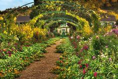 monet paintings au jardin   Jardin De Monet Photograph - Jardin De Monet Fine Art Print