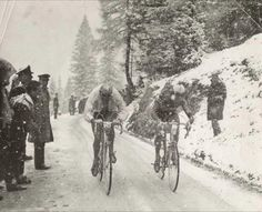 Racing in the snow!!!! Before cycling became soft.