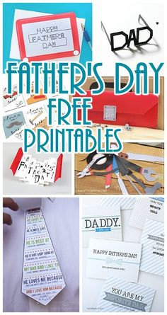 Fun Father's Day Cards and FREE Printables - Lots of Cute Paper Crafts Dad, Grandpa, Husbands, Boyfriends and Brothers will LOVE this holiday!