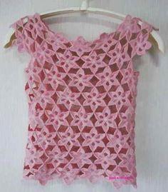 free crochet flower patterns for women's clothing crocheted clothes Crochet Woman, Love Crochet, Crochet Motif, Beautiful Crochet, Crochet Lace, Crochet Diagram, Crochet Flower Patterns, Crochet Designs, Crochet Flowers