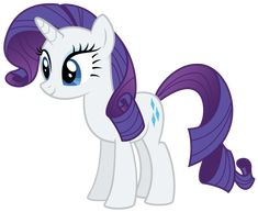 Rarity Standing by AlmostFictional on DeviantArt