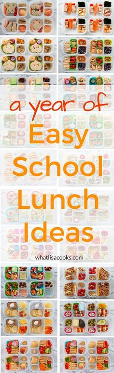 whole year of easy school lunch packing ideas from . If you need ideas for what to pack for school lunch, look no further! Easy School Lunches, Kids Lunch For School, Toddler Lunches, Lunch To Go, Lunch Time, Toddler Dinners, School School, Toddler Food, Cold Lunches