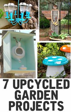 7 Upcycled Garden Projects - The Shabby Creek Cottage