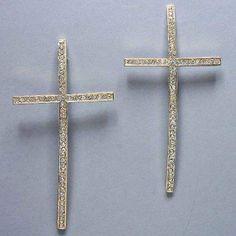 """#cybermonday #stockingstuffer #jewelry  Designer Inspired Gold Cross Rhinestone Earrings. Size : 2 1/8"""" W, 4 1/4"""" WT001,http://www.amazon.com/dp/B00CSU9CKO/ref=cm_sw_r_pi_dp_WIoNsb1EM59M9DBH"""