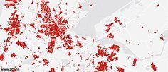 ontwikkeling van stedelijk gebied in beeld