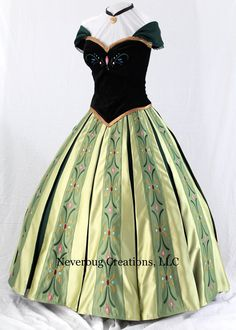 Snow Princess Anna Coronation Costume by NeverbugCreations on Etsy $1800